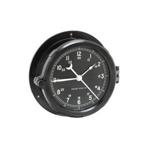 Chelsea Clock Chatham Desk Clock on Black Marble