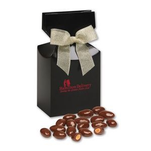 Chocolate Covered Almonds in Black Gift Box