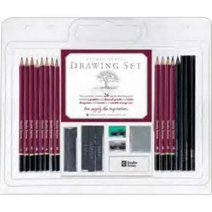 Studio Series™ 25-Piece Drawing Set (Pencil, Pencil Sharpener and Eraser)